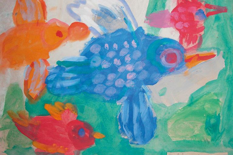 kinderzeichnungen aus schulprojekt fliegen lernen, bildquelle: paedagogisches institut