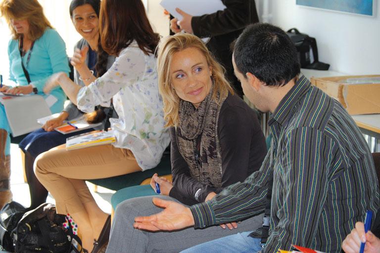 internationaler austausch, teilnehmer_innen der akademie tutzing, foto: paedagogisches institut