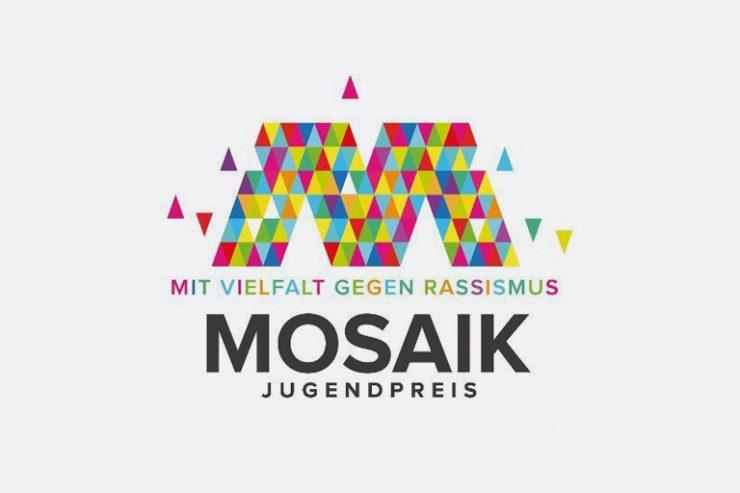 logo mosaik jugendpreis, mit vielfalt gegen rassismus