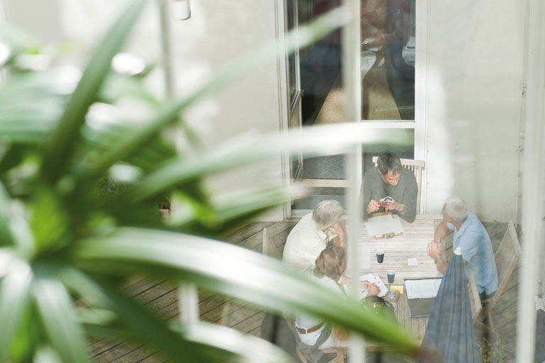 blick in den innenhof am pi-zkb, foto: bernhard lang