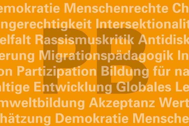 typografische motivkachel für die abteilung politische bildung – version 2