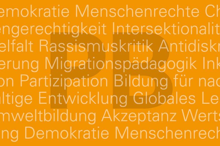 typografische motivkachel für die abteilung politische bildung – version 1