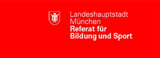 Logo des Referats für Bildung und Sport der LHM inkl. Verlinkung zu muenchen.de/rbs