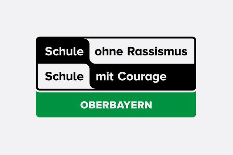 logo schule ohne rassismus, oberbayern