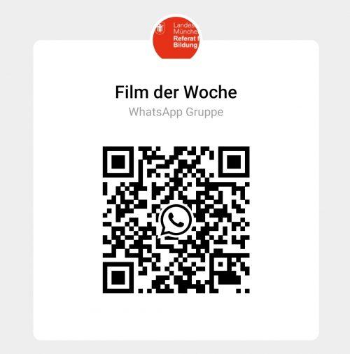 Mit diesem QR-Code, kann man sich bei der Film der Woche-Gruppe anmelden